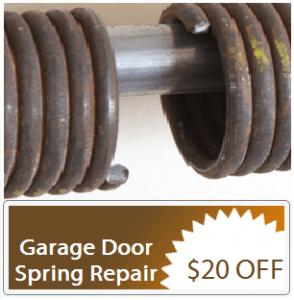 broken spring garage door repair apex nc